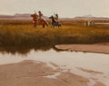 Paintings, Frank McCarthy (American, 1924-2002). End of Day, 1971. Gouache on Masonite. 11 3/4 x 15 inches (29.8 x 38.1 cm). Signed...