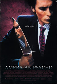 "American Psycho (Lions Gate, 2000). Rolled, Very Fine. One Sheet (27"" X 40"") SS. Horror"