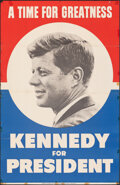 """Movie Posters:Miscellaneous, John F. Kennedy for President (1960). Folded, Fine. Campaign Poster (28.75"""" X 44.5"""") """"A Time for Greatness."""" Miscellaneous...."""