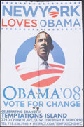 "Movie Posters:Miscellaneous, Obama '08 (2008). Folded, Very Good/Fine. Rally Poster (23.75"" X 35.75""). ""New York Loves Obama"" Miscellaneous.. ..."