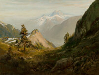 William Keith (American, 1838-1911) Where Gold was Found in California, 1901 Oil on canvas 30 x 4