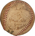 Baseball Collectibles:Balls, 1937 Rogers Hornsby Single Signed & Inscribed Baseball with Provenance....