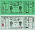 Boxing Collectibles:Memorabilia, 1963 Sonny Liston vs. Floyd Patterson Phantom Tickets Lot of 2.... (Total: 2 items)