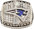 Football Collectibles:Others, 2001 New England Patriots Super Bowl XXXVI Championship Ring Presented to Offensive Guard Damien Woody....