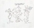 Animation Art:Concept Art, Chuck Jones - Elmer Fudd, Bugs Bunny and Daffy Duck Drawin...