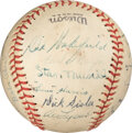 Baseball Collectibles:Balls, 1939-40 American Association All-Star Team Signed Baseball with Stan Musial from The George Sisler Family. ...