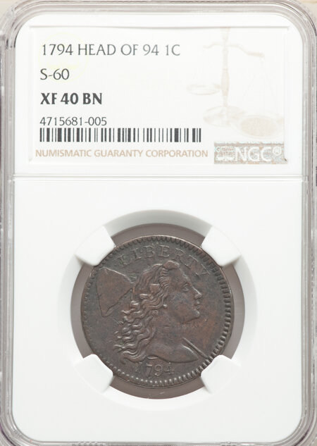 1794 1C S-60 Head of 1794, B-52, R.3, BN, MS 40 NGC