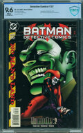Modern Age (1980-Present):Superhero, Detective Comics #737 - CBCS Certified (not CGC) (DC, 1999) CGC NM+ 9.6 White pages.