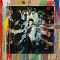 Works on Paper, Mr. Brainwash (b. 1966). Hero Ali, 2017. Silkscreen in colors with acrylic and spray paint on paper. 58 x 58 inches (147...