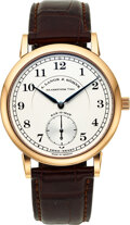 Timepieces:Wristwatch, A. Lange & Sohne, Very Fine 1815 Sax-O-Mat, 18k Rose Gold,...