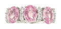 Estate Jewelry:Rings, Pink Sapphire, Diamond, White Gold Ring The r...