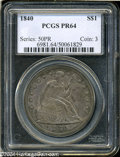 Proof Seated Dollars: , 1840 $1 PR64 PCGS. Struck from a previously unrecorded ...