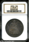 Proof Seated Dollars: , 1859 $1 PR65 NGC. This proof Silver Dollar issue is ...