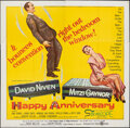 Movie Posters:Comedy, Happy Anniversary (United Artists, 1959). Folded, Fine/Ver...