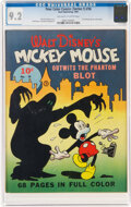 Golden Age (1938-1955):Cartoon Character, Four Color (Series One) #16 Mickey Mouse (Dell, 1941) CGC NM- 9.2 Off-white to white pages....