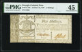 Colonial Notes:Georgia, Georgia October 16, 1786 5 Shillings Fr. GA-129 PMG Choice Extremely Fine 45.. ...