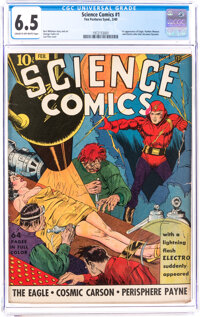 Science Comics #1 (Fox, 1940) CGC FN+ 6.5 Cream to off-white pages