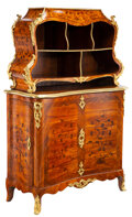 Furniture, A French Louis XV Tulipwood and Kingwood Cartonnier with Marquetry Inlay and Gilt Bronze Mounts, in the Manner of Bernard II v... (Total: 2 Items)