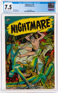 Golden Age (1938-1955):Horror, Nightmare #13 (St. John, 1954) CGC VF- 7.5 Cream to off-white pages....
