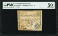 Colonial Notes:Georgia, Georgia September 10, 1777 $5 Fr. GA-118 PMG About Uncirculated 50.. ...