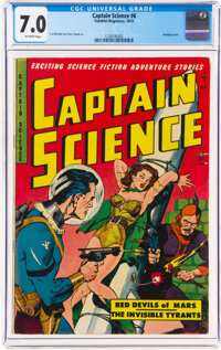 Captain Science #6 (Youthful Magazines, 1951) CGC FN/VF 7.0 Off-white pages