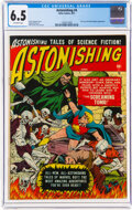 Golden Age (1938-1955):Science Fiction, Astonishing #4 (Atlas, 1951) CGC FN+ 6.5 Off-white pages....