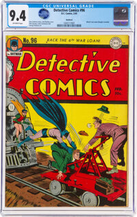 Detective Comics #96 Rockford Pedigree (DC, 1945) CGC NM 9.4 Off-white pages
