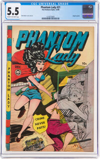 Phantom Lady #21 (Fox Features Syndicate, 1948) CGC FN- 5.5 Cream to off-white pages