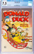 Golden Age (1938-1955):Cartoon Character, Four Color #62 Donald Duck (Dell, 1945) CGC VF- 7.5 Off-white pages....