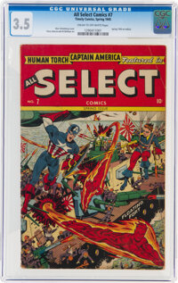 All Select Comics #7 (Timely, 1945) CGC VG- 3.5 Cream to off-white pages