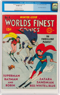 World's Finest Comics #4 (DC, 1941) CGC VF/NM 9.0 Off-white to white pages