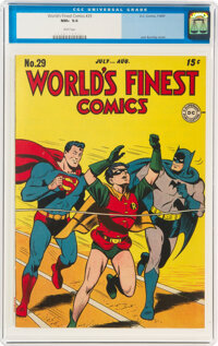 World's Finest Comics #29 (DC, 1947) CGC NM+ 9.6 White pages