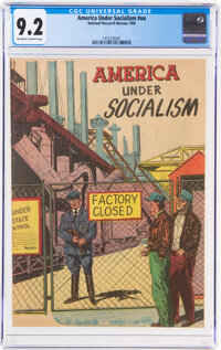 America Under Socialism #nn (National Research Bureau, 1950) CGC NM- 9.2 Off-white to white pages