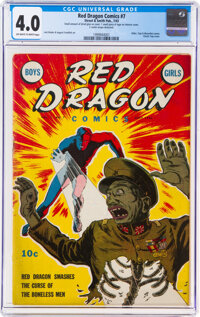 Red Dragon Comics #7 (Street & Smith, 1943) CGC VG 4.0 Off-white to white pages