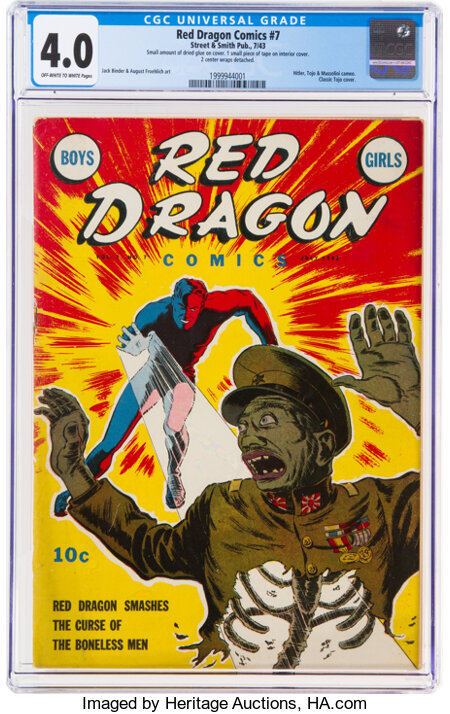 Red Dragon Comics #7 (Street & Smith, 1943) CGC VG 4.0 Off-white to white pages....