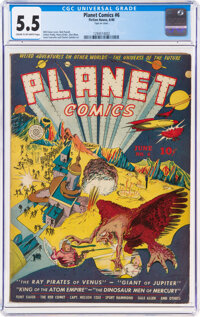 Planet Comics #6 (Fiction House, 1940) CGC FN- 5.5 Cream to off-white pages