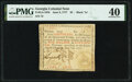 """Colonial Notes:Georgia, Georgia June 8, 1777 $5 Black """"in"""" Fr. GA-107b PMG Extremely Fine 40.. ..."""