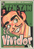 """Movie Posters:Foreign, El Vividor (Pel Mex, 1956). Folded, Fine/Very Fine. Mexican One Sheet (27.5"""" X 39.5"""") Jeba Pucitef Artwork. Foreign. ..."""