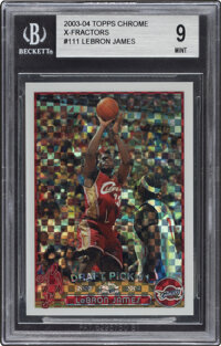 2003-04 Topps Chrome X-Fractor LeBron James #111 BGS Mint 9 - Serial Numbered 180/220