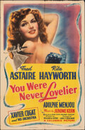 """Movie Posters:Musical, You Were Never Lovelier (Columbia, 1942). Folded, Fine-. One Sheet (27"""" X 40.5"""") Style B. Musical.. ..."""