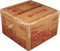Baseball Cards:Unopened Packs/Display Boxes, 1982 Topps Baseball Unopened Tray Pack Case. ...