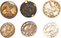 Military & Patriotic:Pre-Civil War, War of 1812: Assorted Infantry Buttons. Six [6...