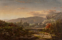 William Louis Sonntag (American, 1822-1900) Mountain Landscape, Upper Hudson River Oil on canvas 36 x 56 inches (91.4