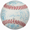 Autographs:Baseballs, 1996 Atlanta Braves Team Signed Baseball. Offered...