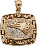 Football Collectibles:Others, 1996 New England Patriots AFC Champions Pendant....