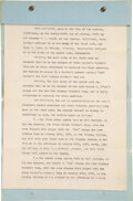Football Collectibles:Others, 1927 Brick Muller's Californians vs. Red Grange's Yankees January 30 Game Contract....