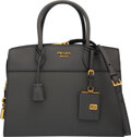 """Luxury Accessories:Bags, Prada Gray Saffiano Leather Tote Bag. Condition: 1. 12.5"""" Width x 9"""" Height x 6"""" Depth. ..."""