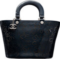 Luxury Accessories:Bags, Chanel Navy Patent Leather Perforated CC No. 5 Shopping To...