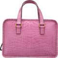 """Luxury Accessories:Bags, Prada Mauve Alligator Tote Bag. Condition: 2. 12"""" Width x 8.5"""" Height x 4"""" Depth. Property from the Joanna M. Ch..."""