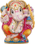 """Luxury Accessories:Bags, Judith Leiber Limited Edition Full Bead Multi-color Crystal Ganesh Shri Minaudière . Condition: 3. 5"""" Width x 6.5"""" Hei..."""